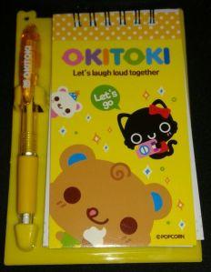 Popcorn Okitoki Notepad & Pen Set Retailed for $5.90