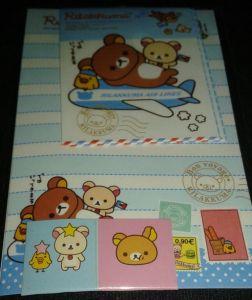 Rilakkuma Airlines Mini Letter Set